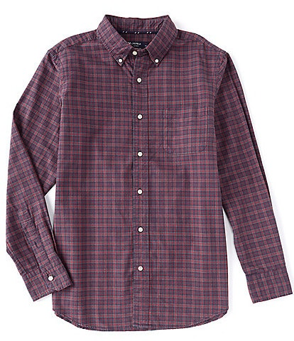 Cremieux Large Plaid Oxford Multi-Color Long-Sleeve Woven Shirt