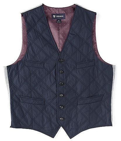 Cremieux Mixed Media Quilted Vest