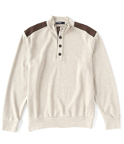 Cremieux Mock Neck Button Pullover