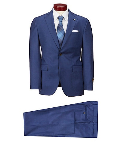Cremieux Modern Fit Birdseye Wool Suit