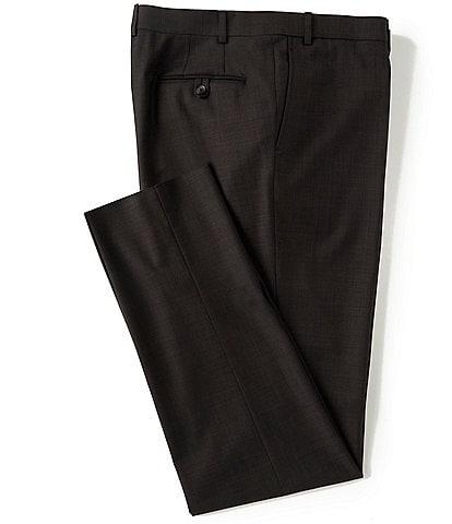 Cremieux Modern Fit Flat Front Sharkskin Dress Pants