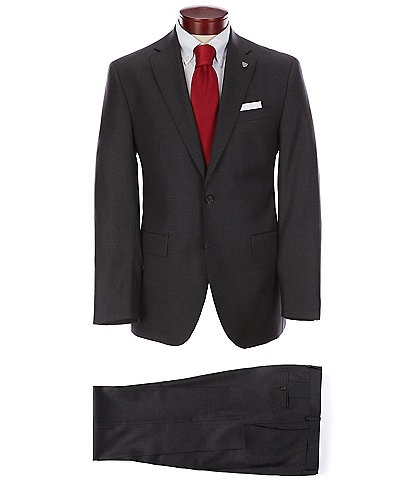 Cremieux Modern Fit Solid Grey Pleated Wool Suit