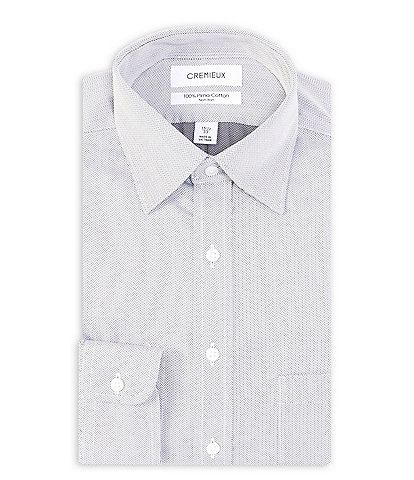 Cremieux Non-Iron Classic Fit Spread Collar Checked Dress Shirt