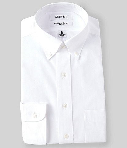 Cremieux Non-Iron Classic-Fit Button-Down Collar Solid Dress Shirt