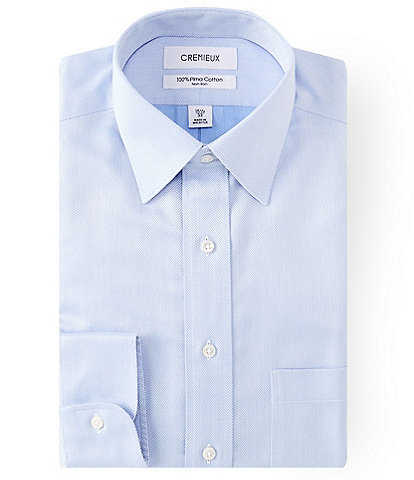 Cremieux Non-Iron Classic-Fit Spread-Collar Herringbone Dress Shirt