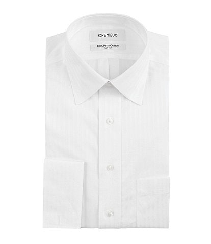 Cremieux Non-Iron Classic-Fit Spread-Collar Tonal-Stripe Dress Shirt