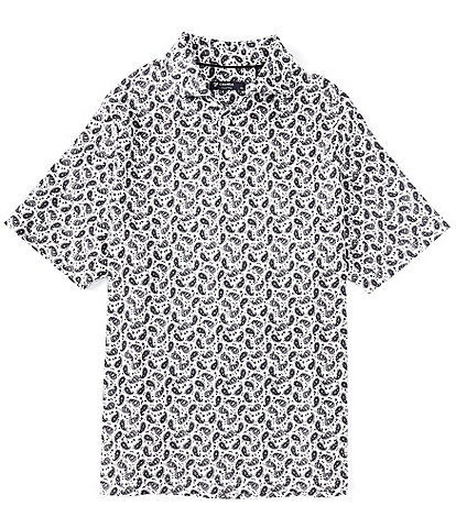 Cremieux Paisley Print Short-Sleeve Polo Shirt