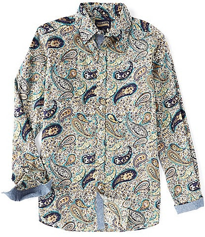 Cremieux Paisley Print Stretch Multi-Color Long-Sleeve Woven Shirt