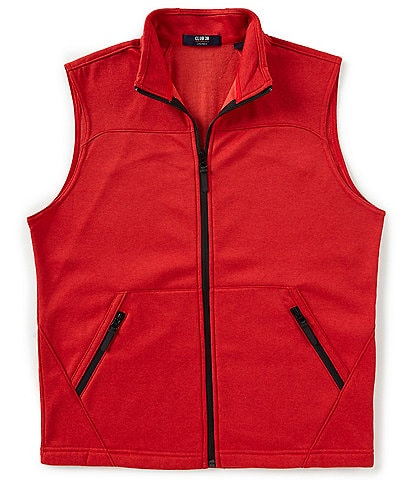 Cremieux Performance Solid Full-Zip Fleece Vest