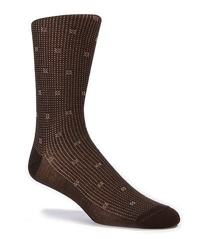 Cremieux Pindot & Square Dress Socks