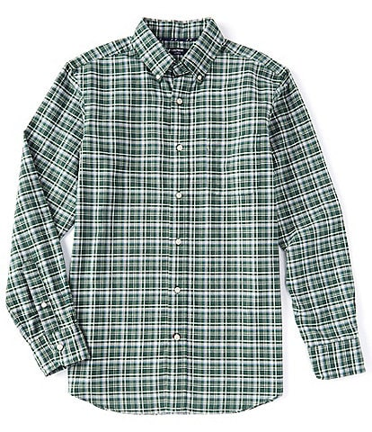 Cremieux Plaid Oxford Green Long-Sleeve Woven Shirt