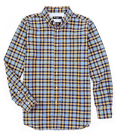 Cremieux Plaid Oxford Yellow Long-Sleeve Woven Shirt