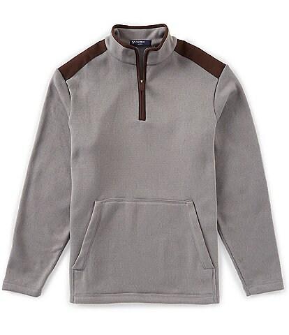 Cremieux Quarter-Zip Fleece Sweater