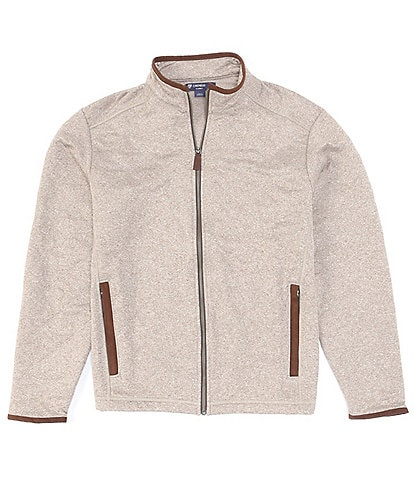 Cremieux Quilted Full-Zip Elbow Patch Detail Jacket