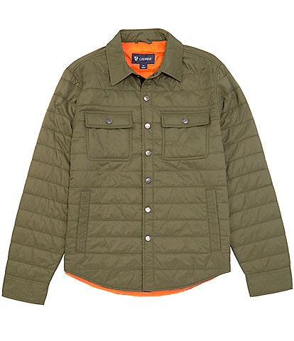 Cremieux Quilted Nylon Snap Front Jacket