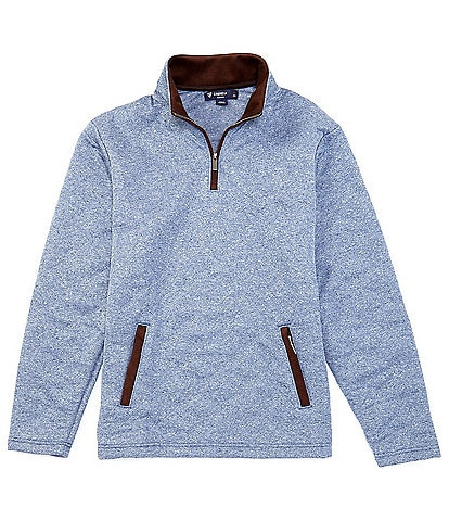 Cremieux Quilted Quarter-Zip Elbow Patch Detail Pullover
