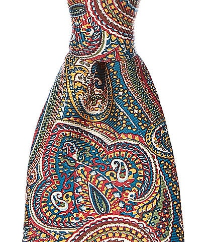 Cremieux Randolph Paisley Print Narrow 3 1/8#double; Silk Tie
