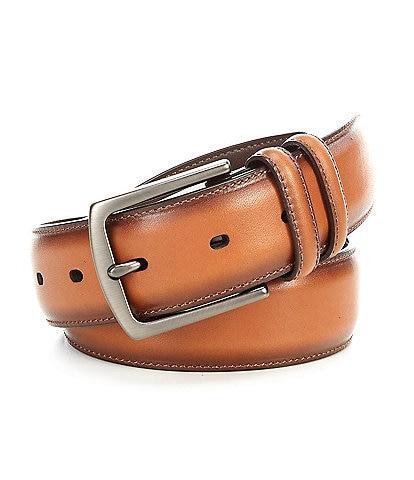 Cremieux Retro Burnished Edge Dress Leather Belt