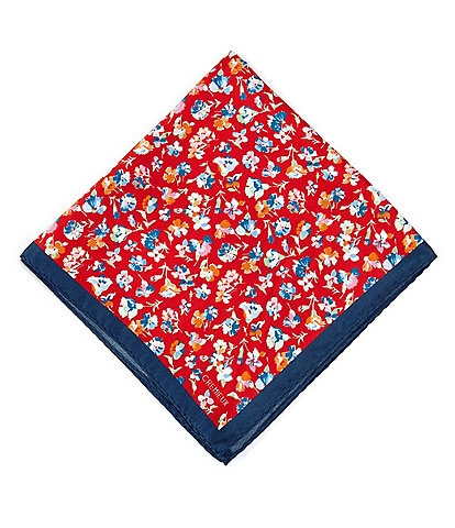 Cremieux Scattered Floral Silk Pocket Square