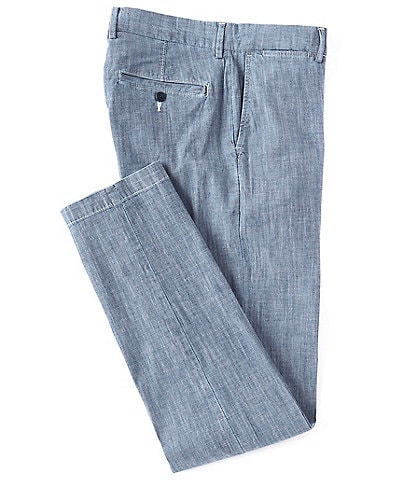 Cremieux Soho Slim-Fit Chambray Flat-Front Casual Pants