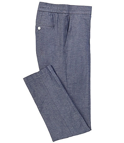 Cremieux Soho Slim-Fit Flat Front Chambray Pants