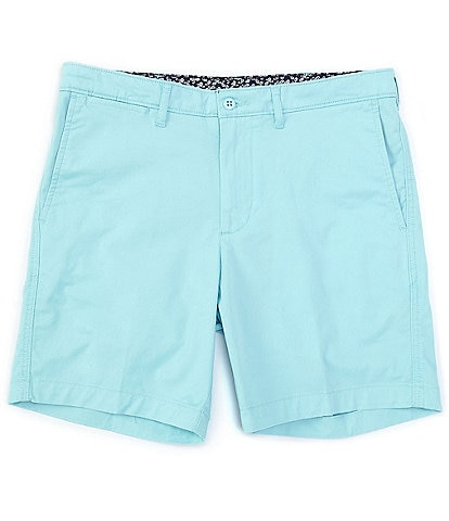 Cremieux Soho Slim-Fit Flat-Front Comfort Stretch 7#double; Inseam Shorts