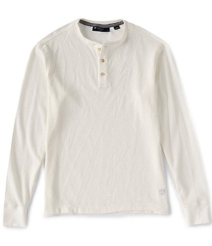 Cremieux Solid Long-Sleeve Waffle Henley