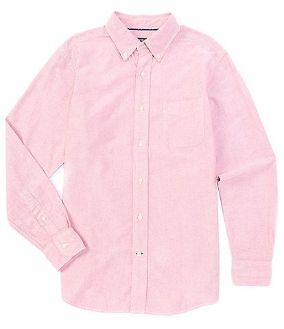 Cremieux Solid Oxford Long-Sleeve Woven Shirt