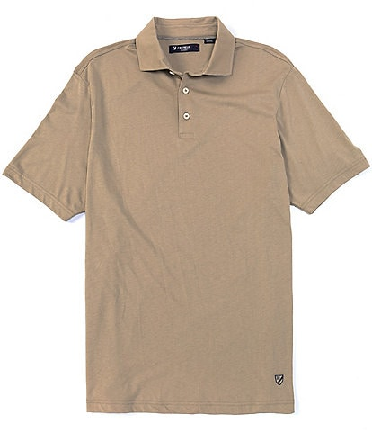 Cremieux Solid Short-Sleeve Polo Shirt
