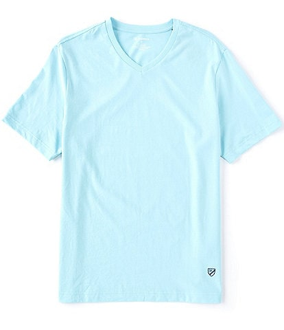 Cremieux Solid Stretch Short-Sleeve V-Neck Tee