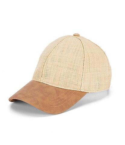 Cremieux Straw Baseball Cap