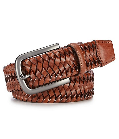 Cremieux Stretch Braid Leather Belt