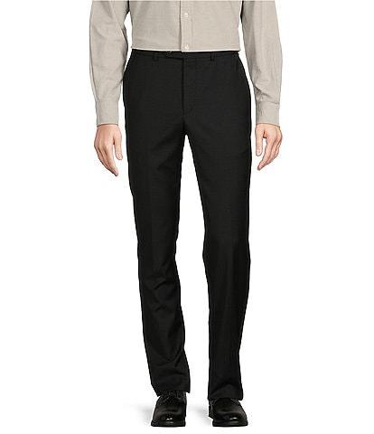 Cremieux Tailored Modern Fit Flat Front Sharkskin Dress Pants