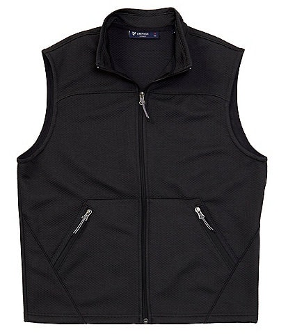 Cremieux Textured Knit Full-Zip Vest