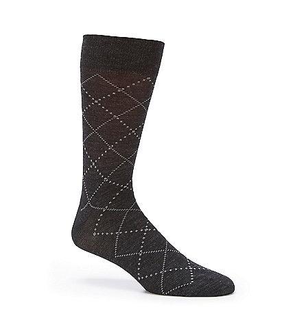 Cremieux Tonal Argyle Crew Socks