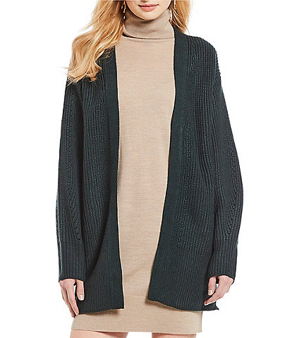 Cremieux Tory Open Front Oversized Boyfriend Cardigan