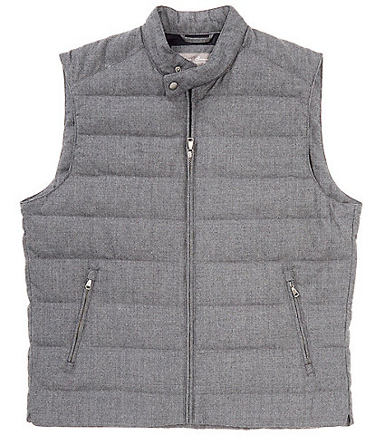 Daniel Cremieux Signature Wool Full-Zip Quilted Vest
