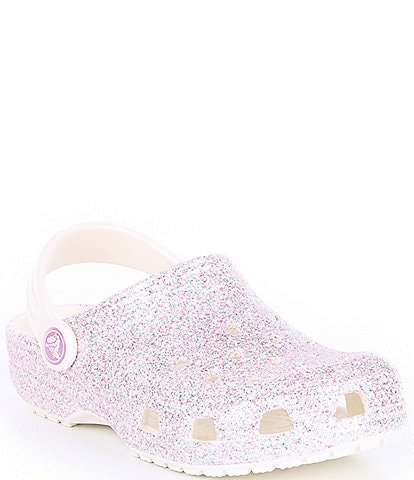 Crocs Girls' Classic Glitter Clogs (Infant)