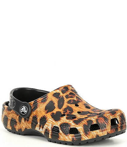 Crocs Girls' Classic Out Of This World Leopard Clogs (Toddler)
