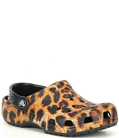 Crocs Girls' Classic Out Of This World Leopard Clogs (Youth)