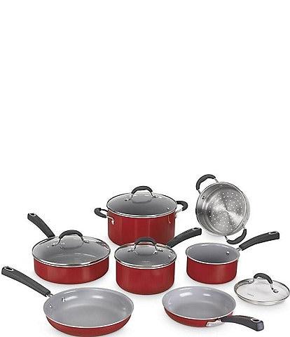 Cuisinart Ceramica XT Nonstick 11-Piece Red Cookware Set