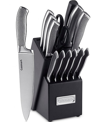 Cuisinart Classic Graphix 15-Piece Stainless Steel Cutlery Block Set