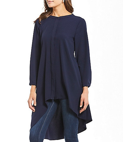 Cupio Asymmetrical Hi-Low Hem Criss Cross Back Tunic