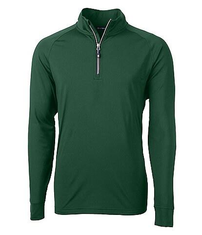 Cutter & Buck Adapt Eco Knit Long-Sleeve Quarter-Zip Pullover