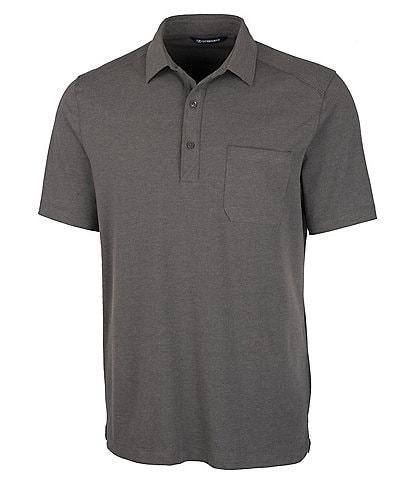 Cutter & Buck Advantage Short-Sleeve Tri-Blend Jersey Polo Shirt