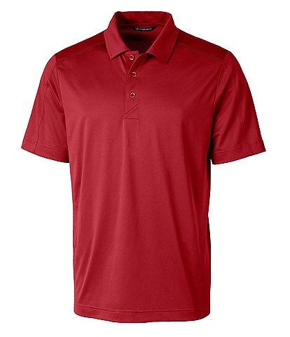 Cutter & Buck Big & Tall Prospect Textured Performance Stretch Short-Sleeve Polo Shirt
