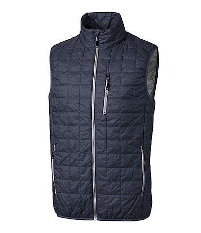 Cutter & Buck Big & Tall Rainier Packable Full-Zip Insulated Puffer Vest