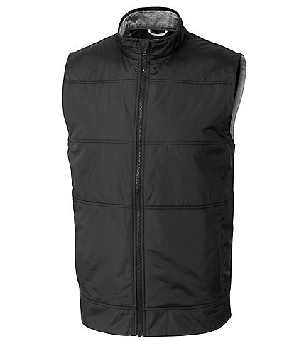 Cutter & Buck Big & Tall Stealth Quilted Performance Stretch Full Zip Vest