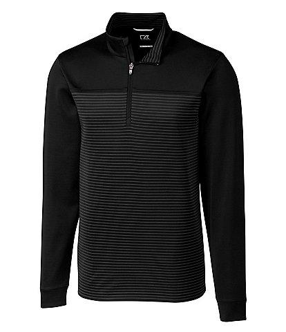 Cutter & Buck Big & Tall Traverse Stripe Performance Stretch Half-Zip Pullover