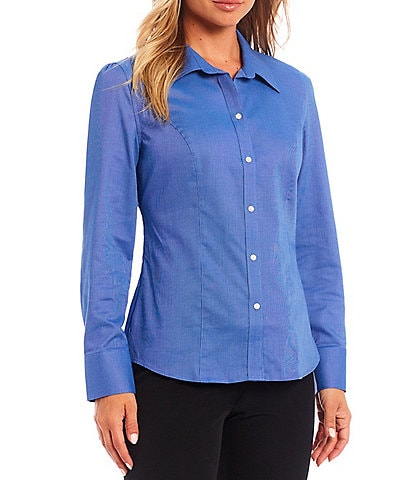Cutter & Buck Epic Easy Care Point Collar Neck Long Sleeve Blouse